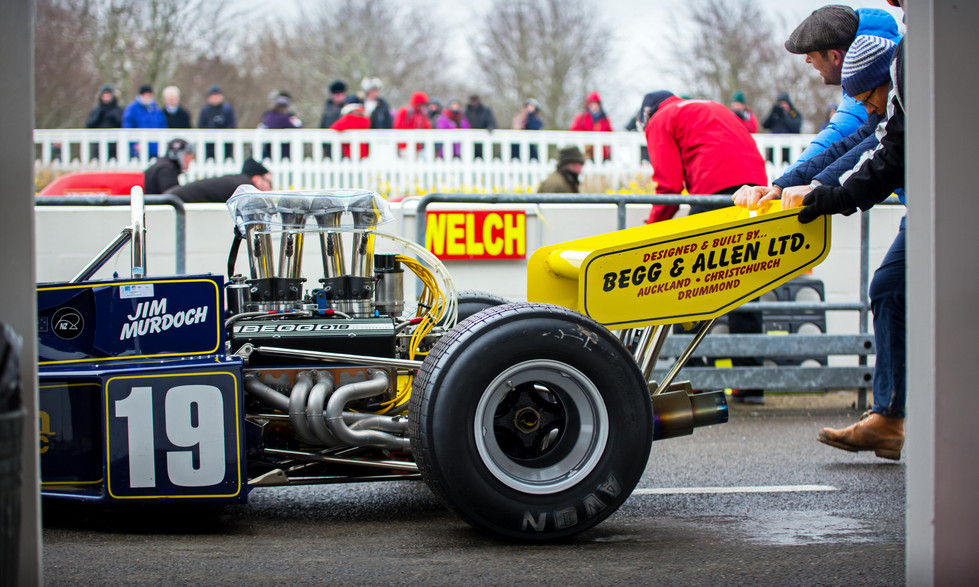 Lyndsay &Scott O'Donnell's Begg-Chevrolet F5000 at the Goodwood 76MM