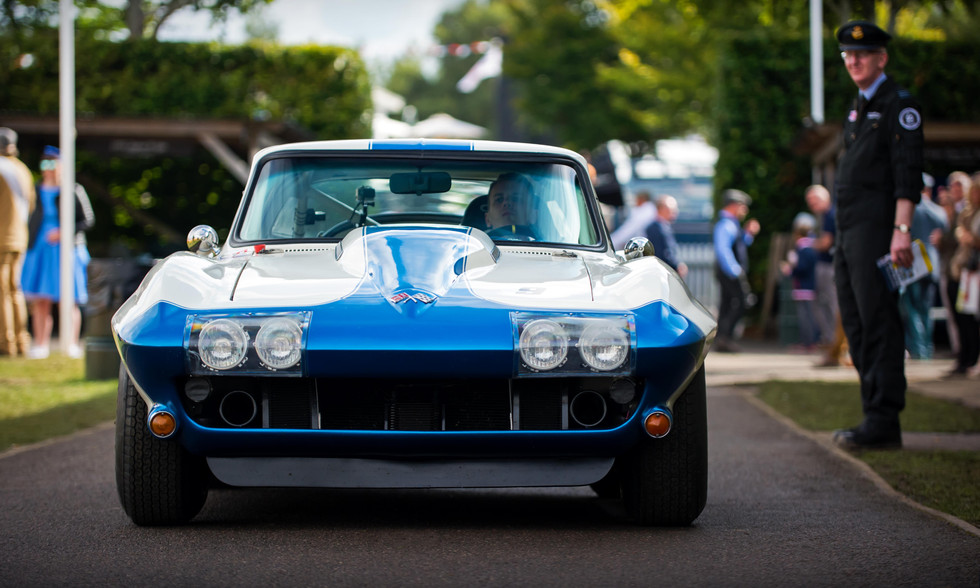Craig Davies & Jason Plato's 1965 Chevrolet Corvette Stingray at the 2017 Goodwood Revival