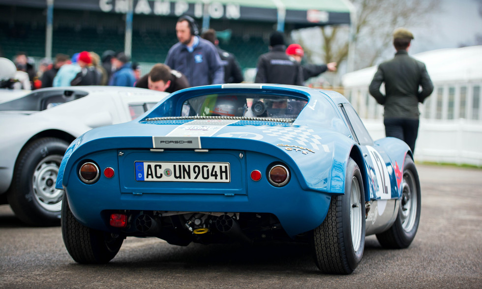 Jean-Marc Bussolini's 1964 Porsche 904 Carrera GTS at the Goodwood 76MM