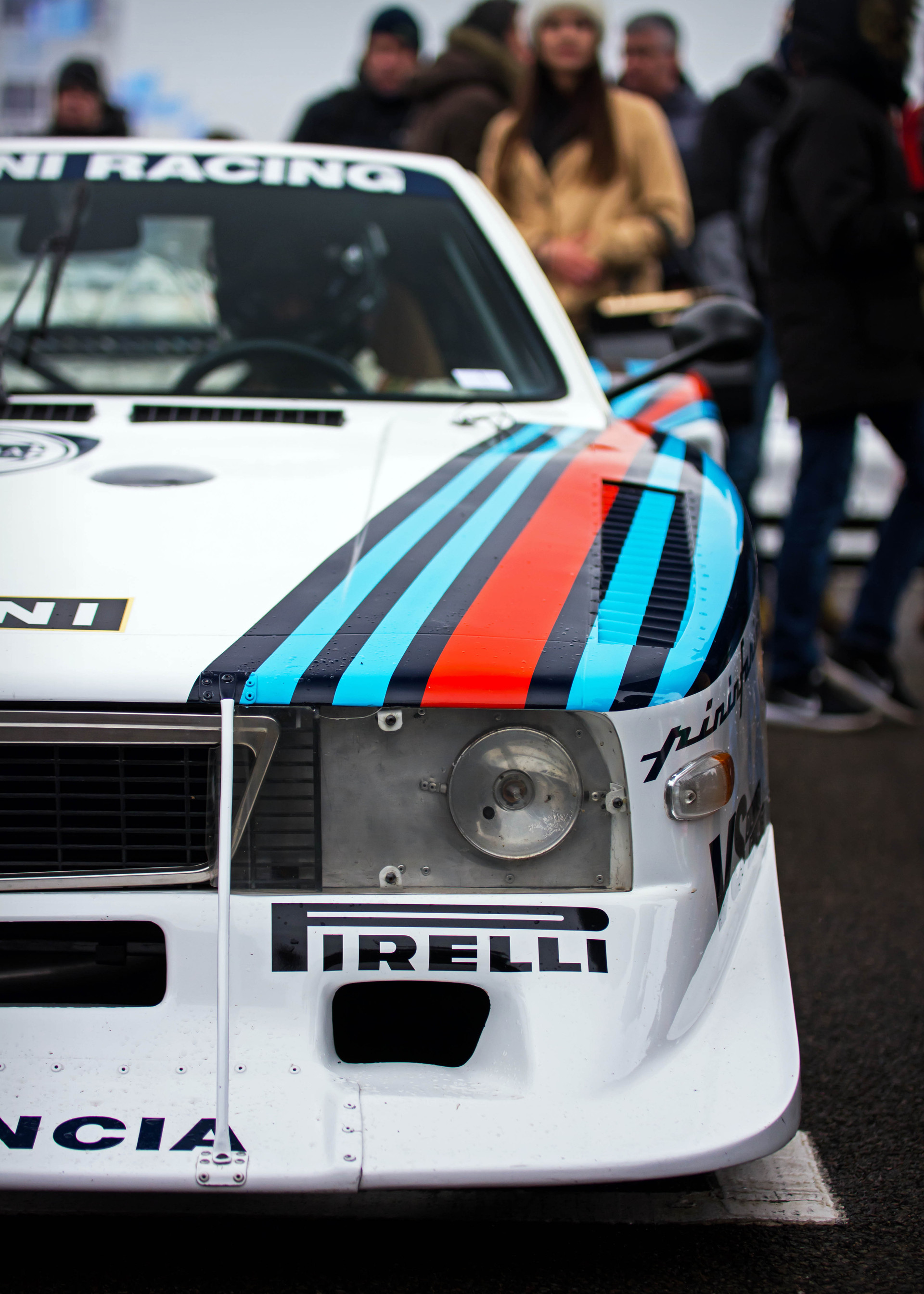 Stefano Macaluso's 1980 Lancia Beta Montecarlo Turbo at the Goodwood 76MM