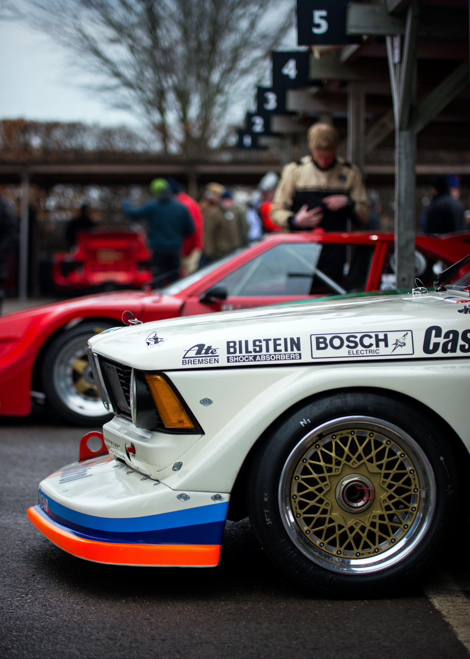 Kevin Cooper's 1977 BMW 320 Group 5 at the Goodwood 76MM