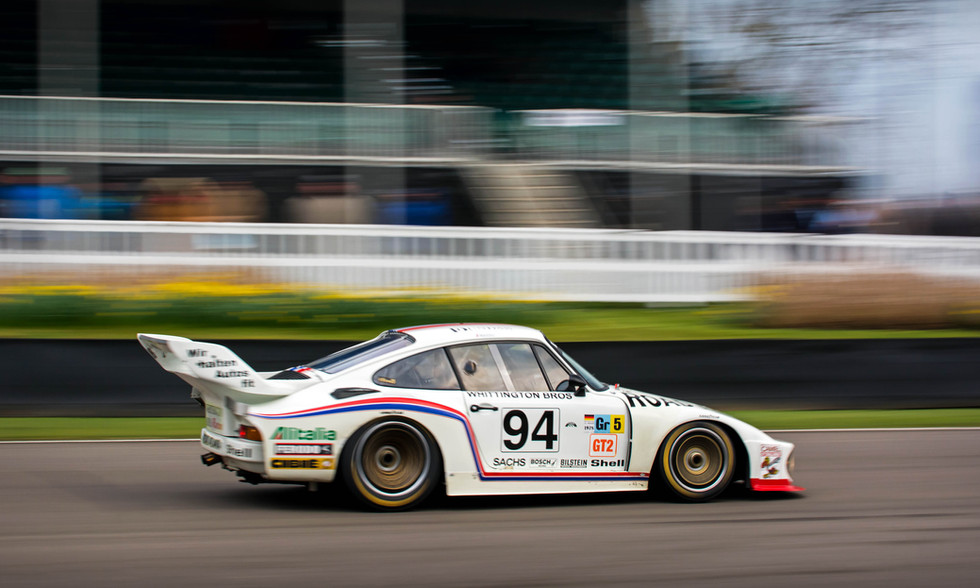 1977 Whittington Brothers Racing Porsche 935 77A at the Goodwood 76MM