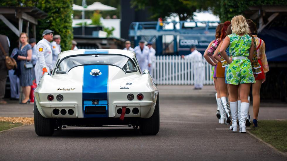 Craig Davies & Jason Plato's 1965 Chevrolet Corvette Stingray at the 2017 Goodwood Revival