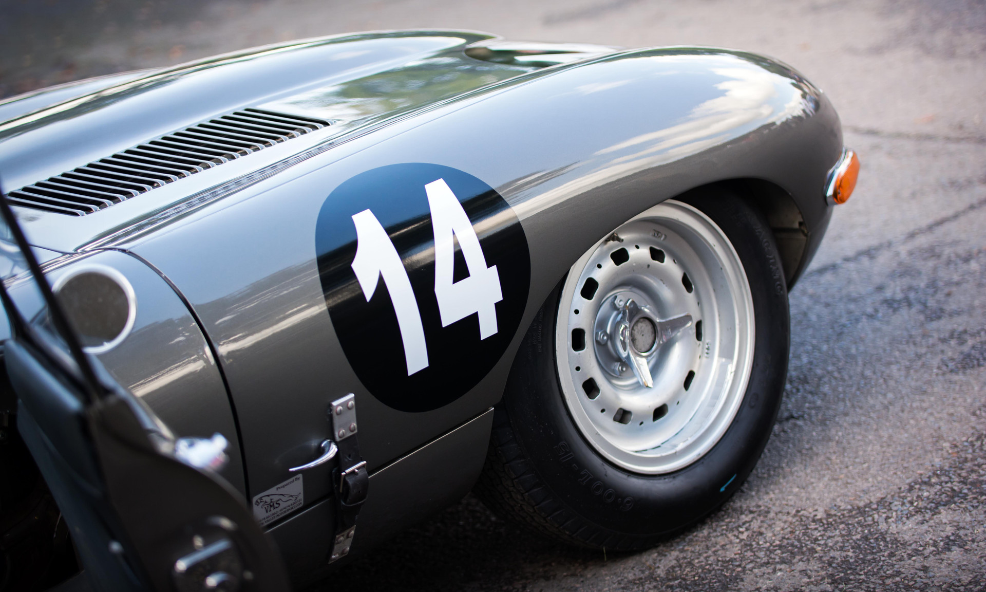 Richard Meins & Rob Huff's 1961Jaguar E-type FHC CUT 7 at the 2017 Goodwood Revival