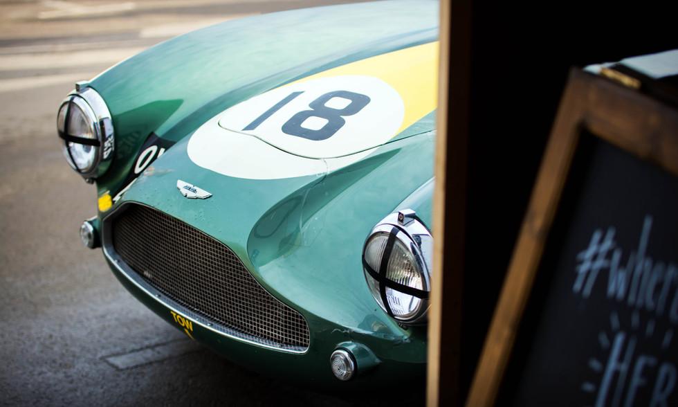 Steve Boultbee Brooks' 1955 Aston Martin DB3S at the 2017 Goodwood Revival