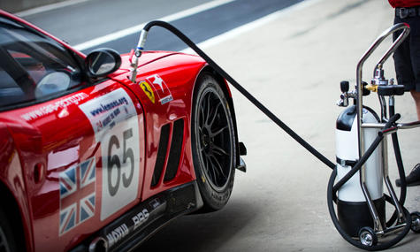 James Cottingham's Ferrari 550 GT1 at th
