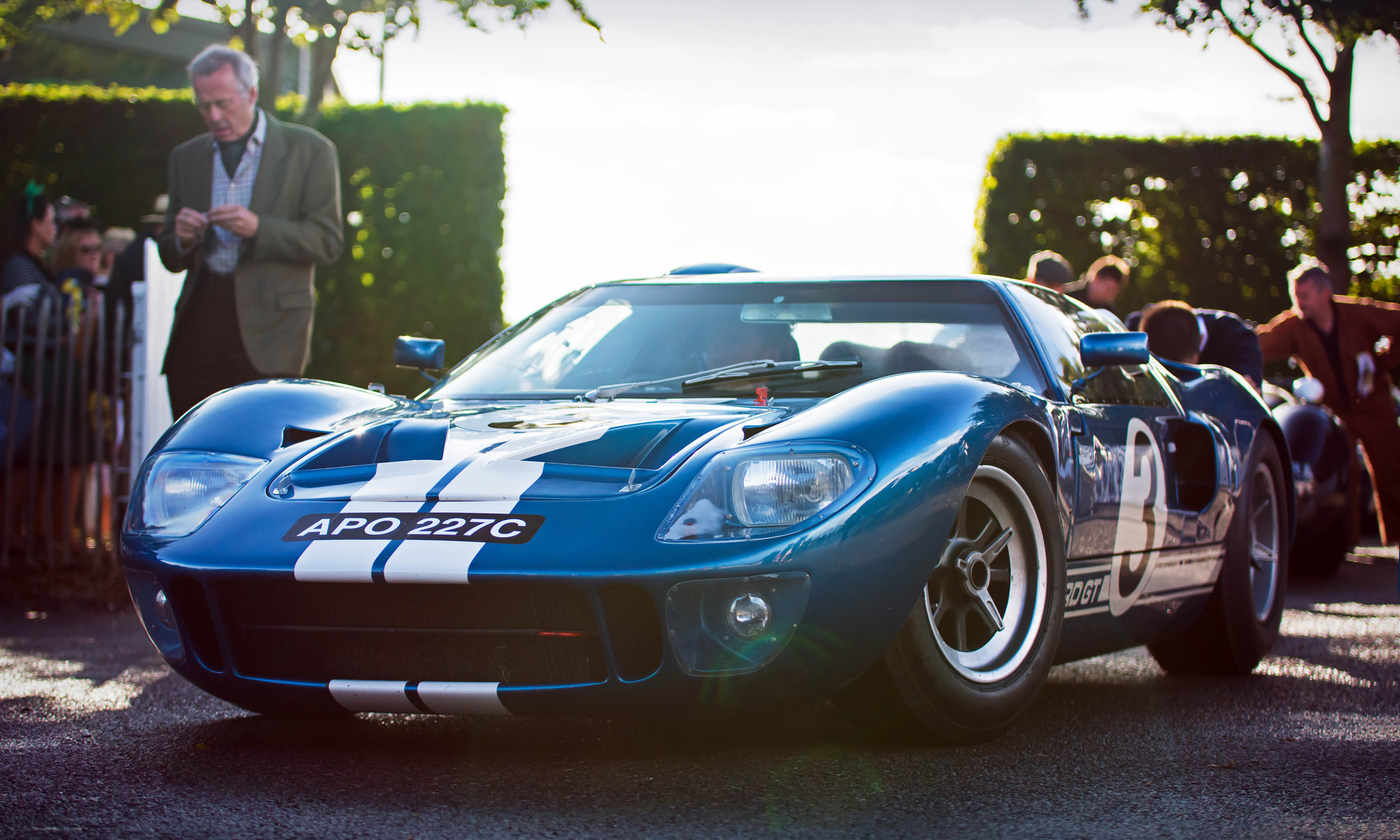 Christopher Wilson's 1965 Ford GT40 at the 2017 Goodwood Revival