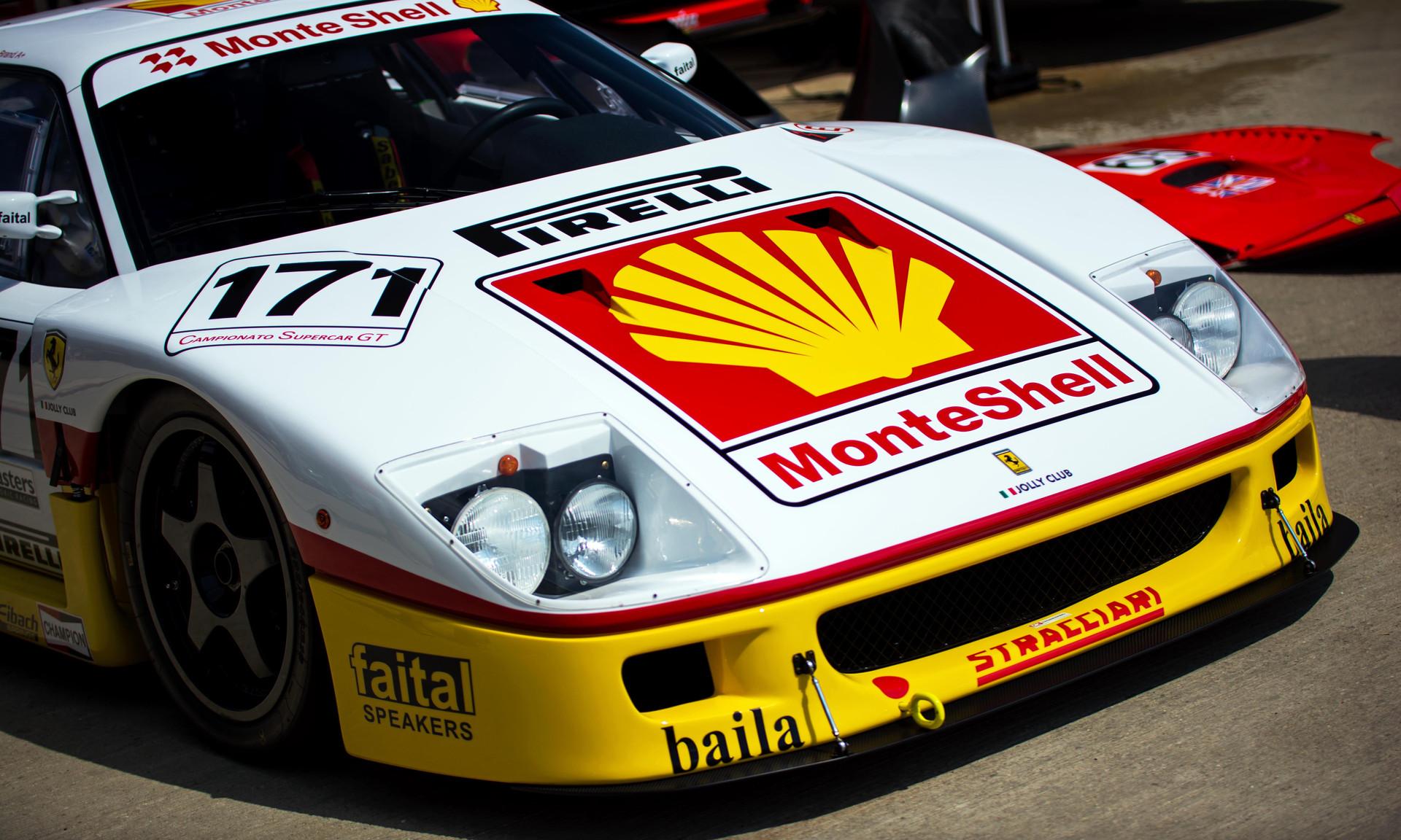 Steven Read's 1995 Ferrari F40 GTE at th