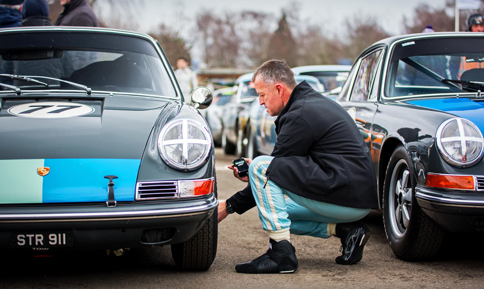 Mark Sumpter's 1965 Porsche 911 at the Goodwood 76MM