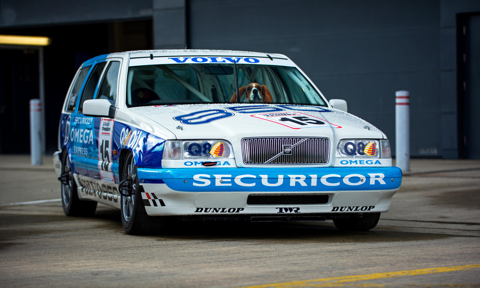 Jan Lammers' 1994 Volvo 850 at the 2018 Silverstone Classic Preview Day