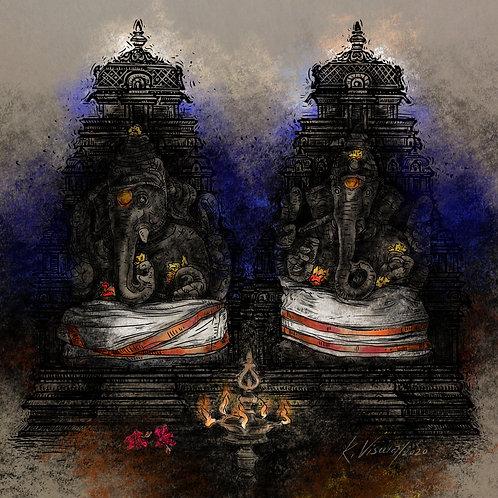 Twin Ganesha