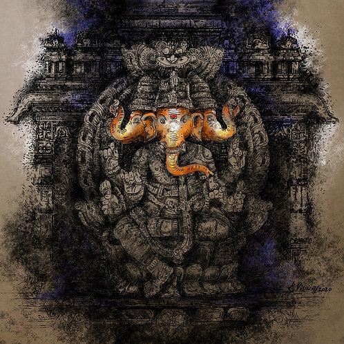 Teen Murthi Ganesha