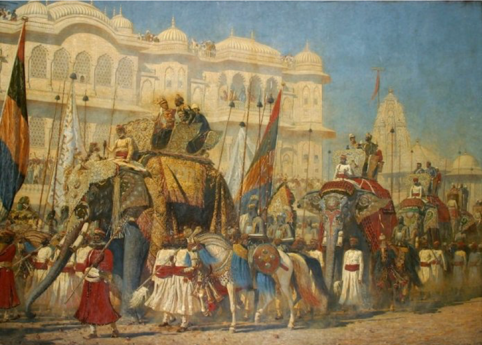 The Jaipur Procession Painting 1876