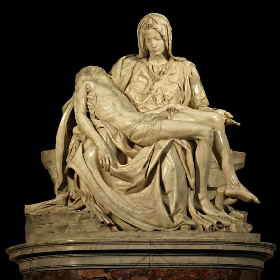 The Pieta by Michelangelo, 1498-1499, St. Peter's Basilica, Vatican City