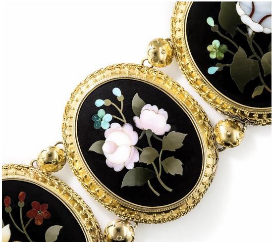 Pietra dura necklace