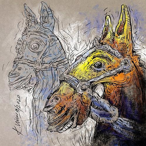 Print - Votive Horses - 1