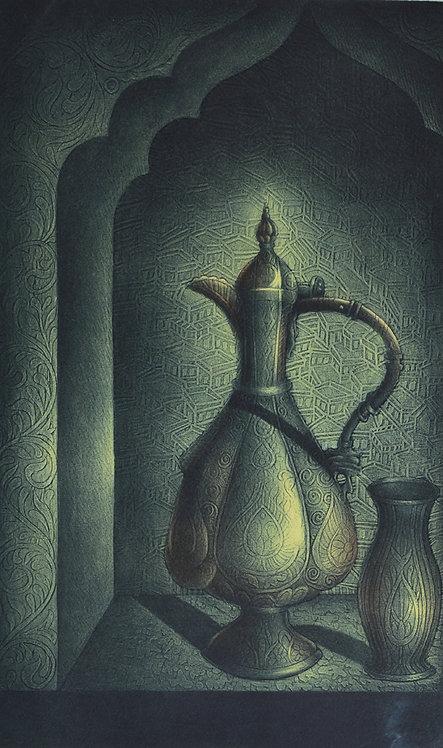 black pot painting