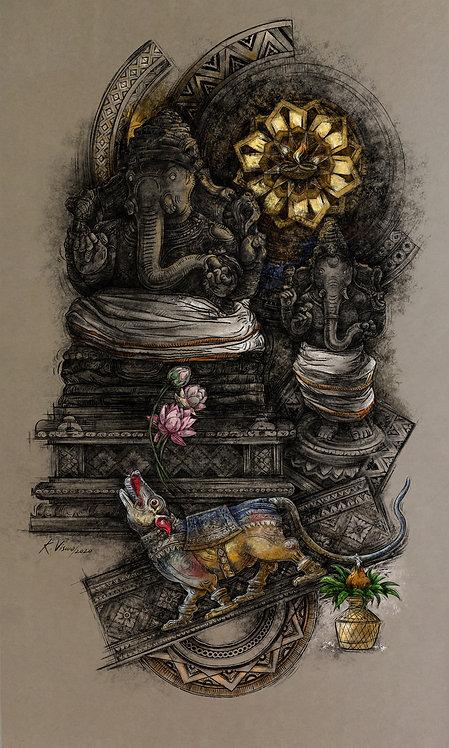 Print - Twin ganesha 2