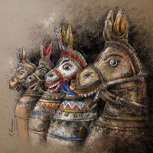 Print - Votive horses - 2