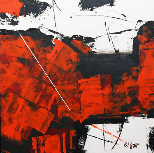 Sudhir Talmale - RED Abstract -4