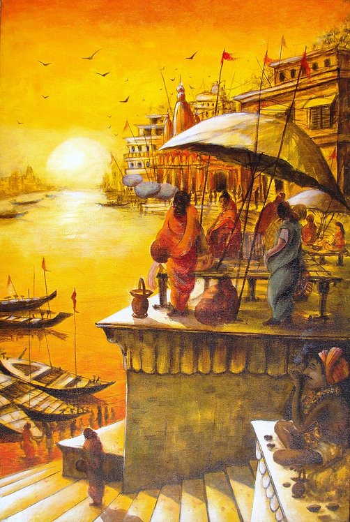 ''Vibrant Ghats of Varanasi - IX