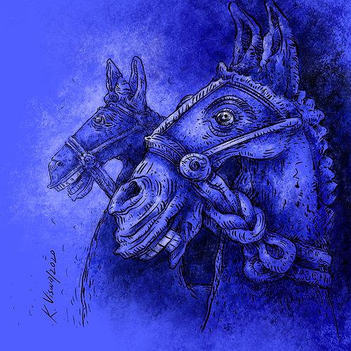 Print - Votive Midnight Horses -3