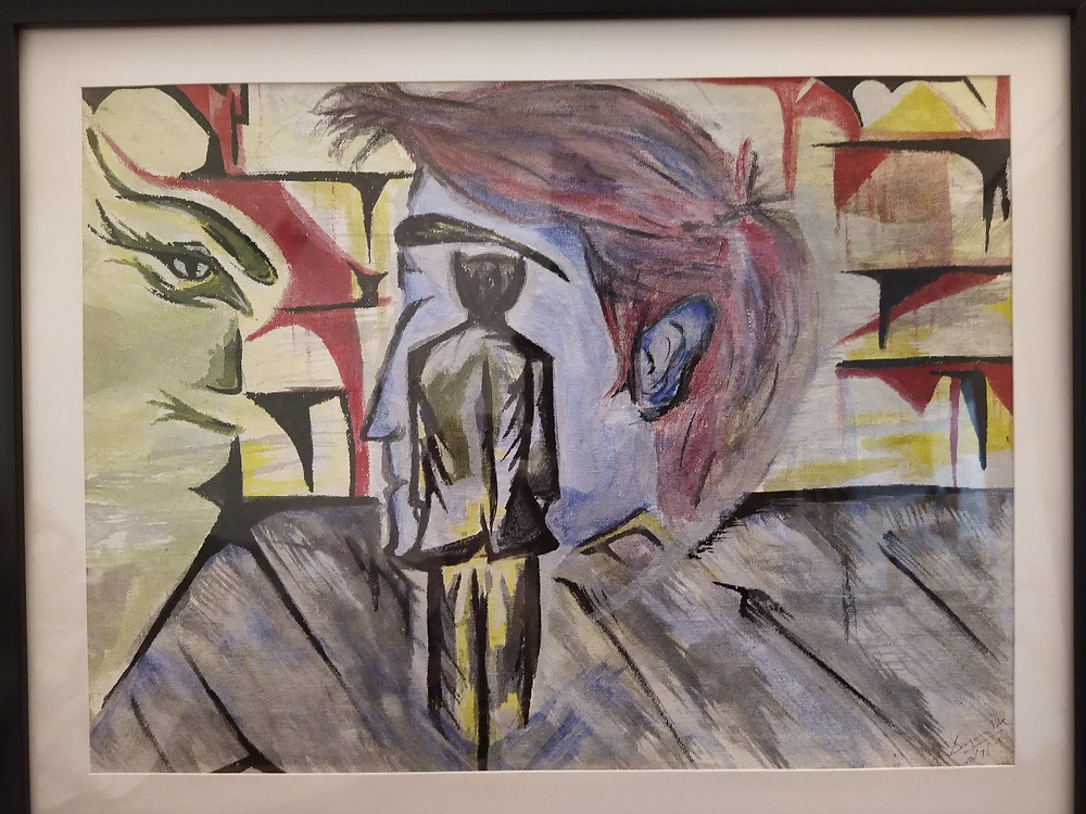 abstract surrealism painting