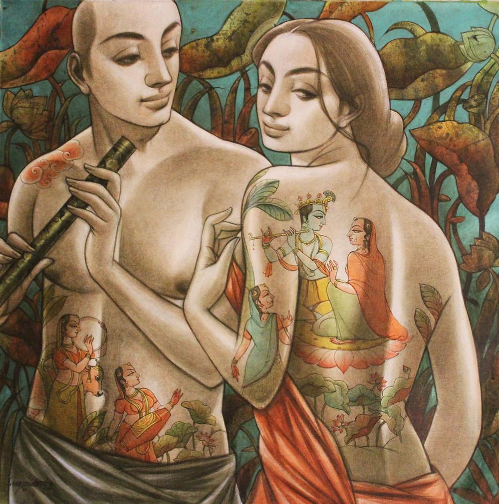 figurative couple painting