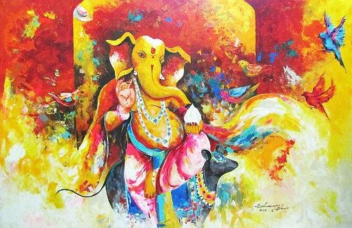 Large Ganesha Painting