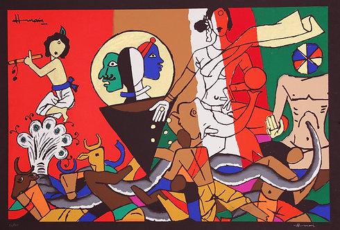 mf husain famous paintings