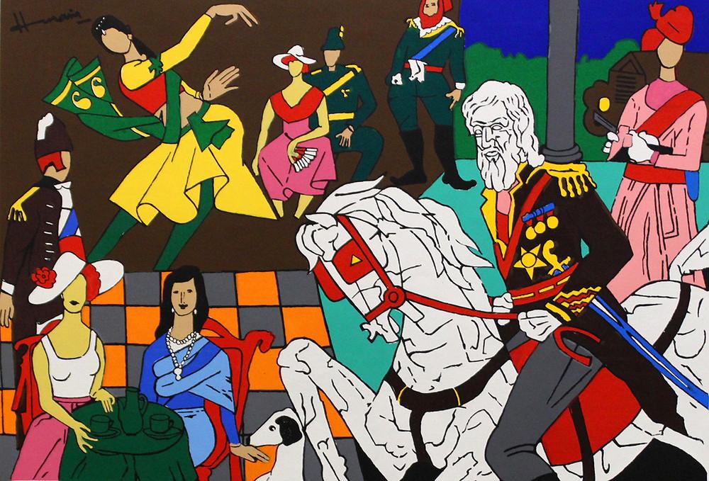M.F Husain art