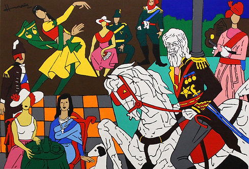 Mf husain paintings for sale ;  british art fair