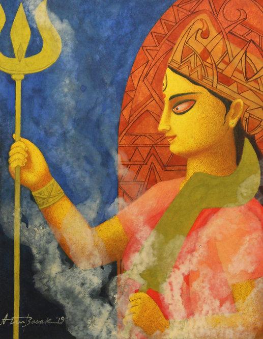 Durga devi painting