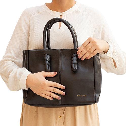BrokeMate - Sunday Knot Handbag(Black)