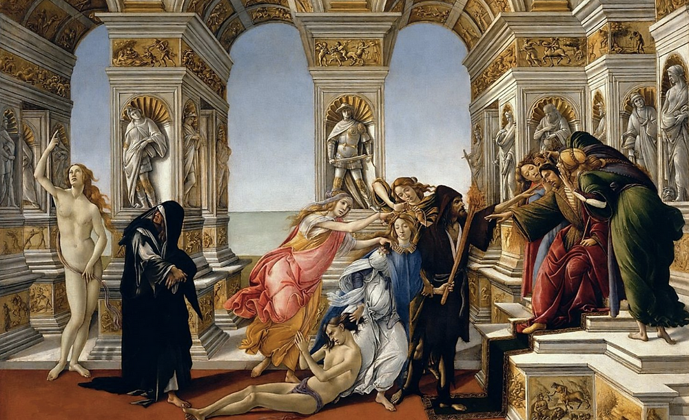 Calumny of Apelles painting
