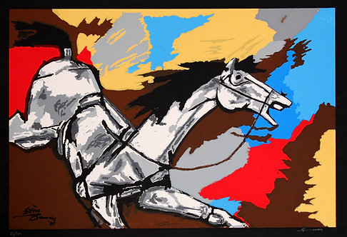 horses by MF Husain