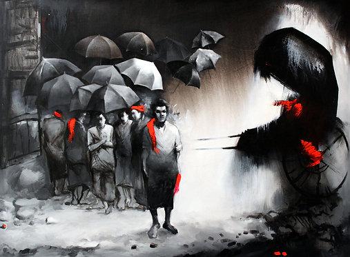 black n white art