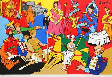 MF Husain - British Raj series