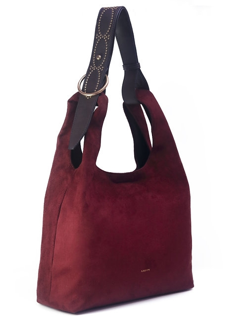Hobo Bag - Wine Red