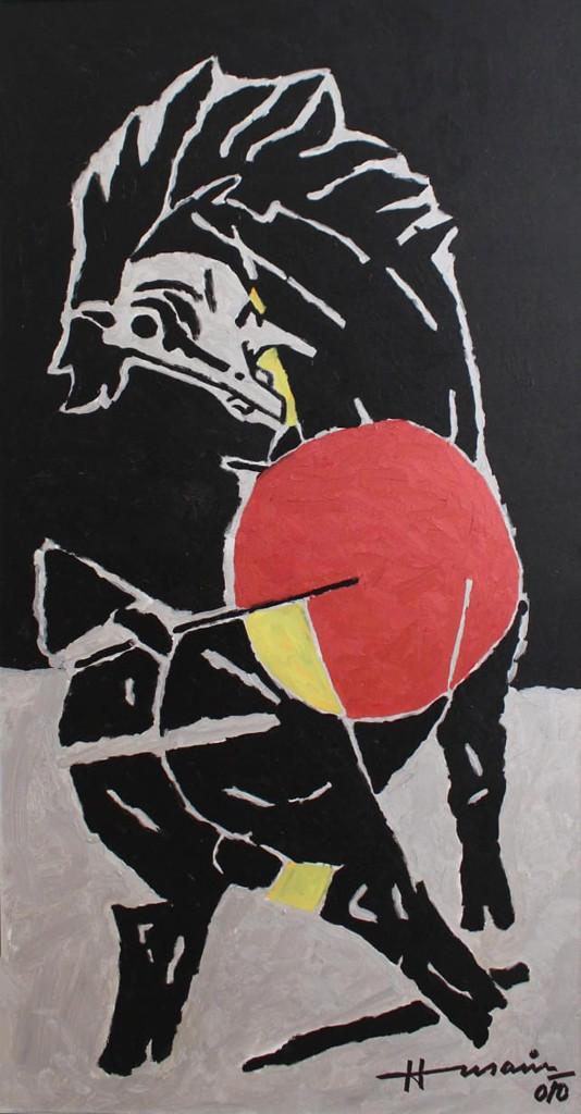 mf husain horse painting
