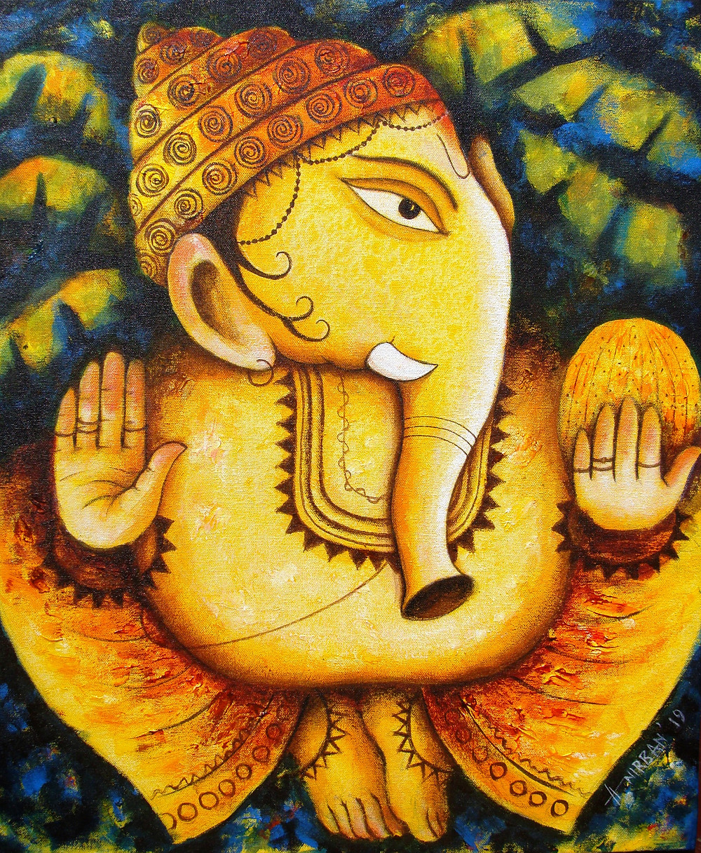 Lord Ganesh Painting in Indian Art