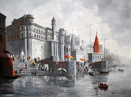 Ganga ghat painting