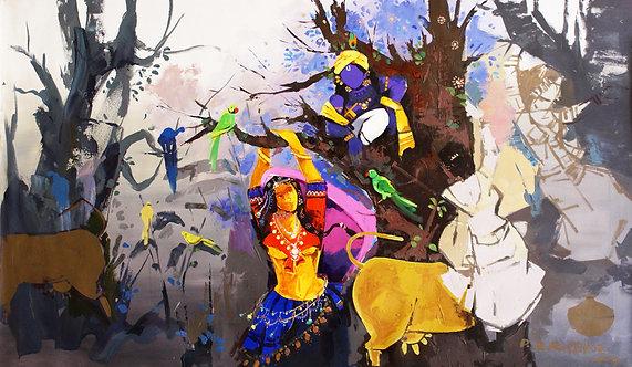 bal krishna painting