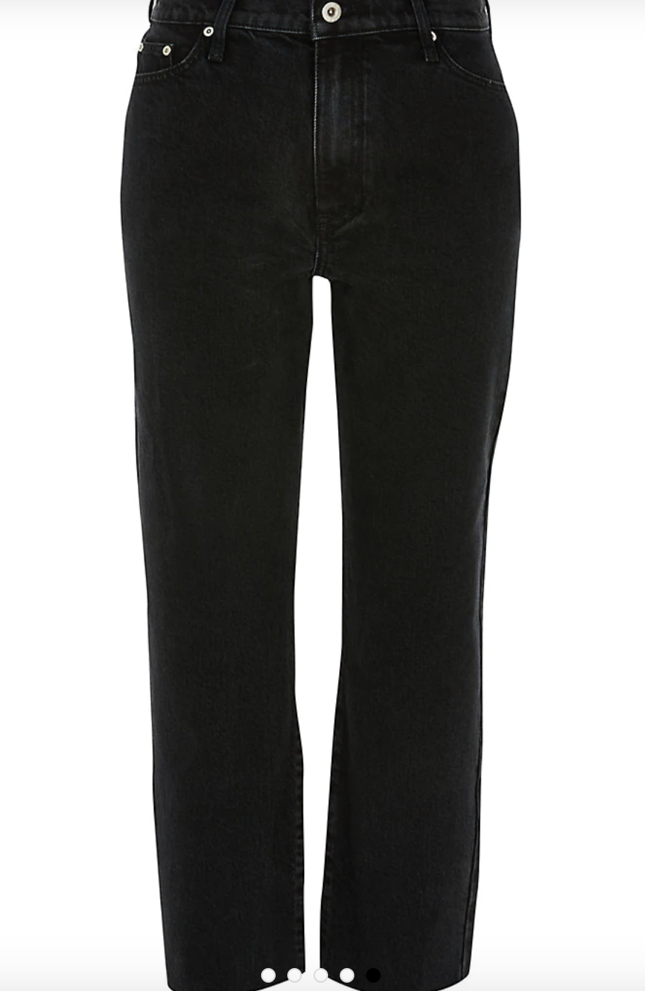 winter outfit for women - high rise jeans