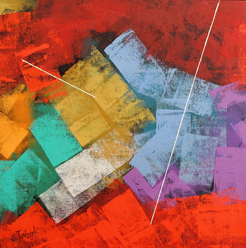 Colour abstract painting