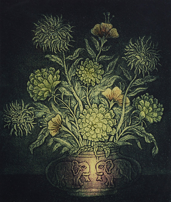 flower in pot painting