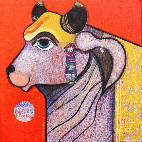 original art cow painting