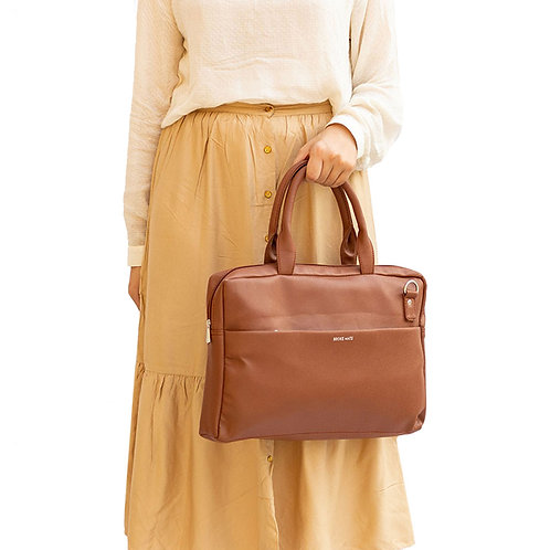 BrokeMate - 14.5 Inch Laptop Bag (Brown)