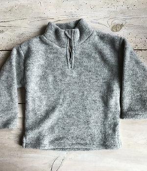 Ziptröja ullfleece grå | Engel