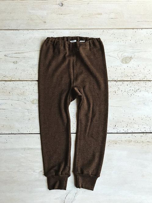 Byxa mudd ullsilke brun | Cosilana